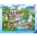 Besuch im Zoo - 45 Teile Rahmenpuzzle