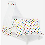 Kinderbett Viktoria komplett, Dots, 70 x 140 cm