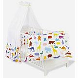 Kinderbett Viktoria komplett, Happy Zoo, 70 x 140 cm