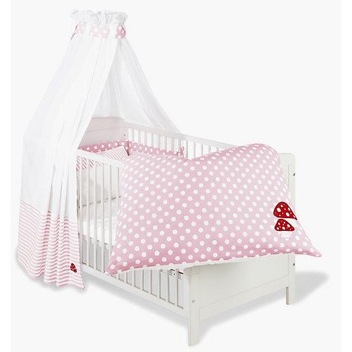 kinderbett viktoria komplett gl ckspilz rosa 70 x 140. Black Bedroom Furniture Sets. Home Design Ideas