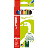 GREENcolors Buntstifte, 12 Farben
