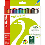 GREENcolors Farbstifte, 24 Farben