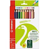 GREENtrio Dickkern-Farbstifte, 12 Farben