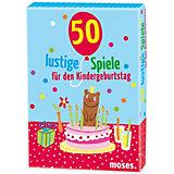 50 lustige Spiele für den Kindergeburtstag Kartenset, Kartenset