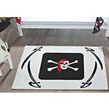 Kinderteppich Pirat, weiß, 170 x 120 cm