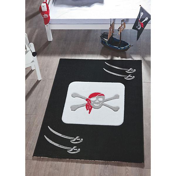Kinderteppich pirat schwarz 170 x 120 cm relita mytoys for Kinderteppich schwarz weiay