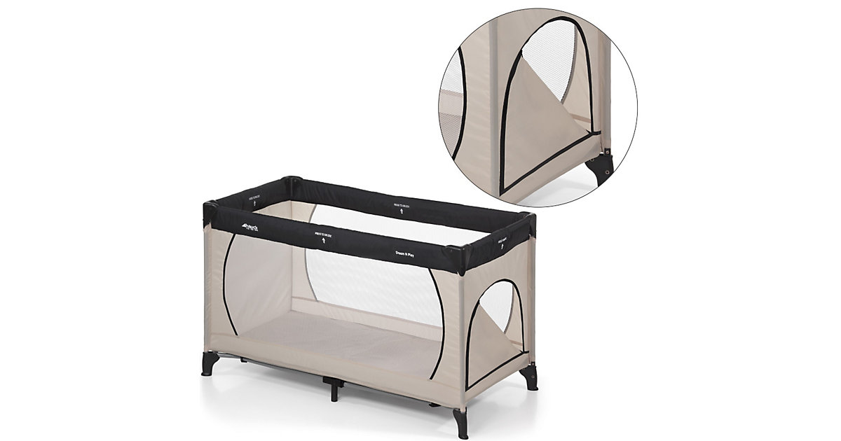Reisebett Dream´n Play Plus, beige/grey