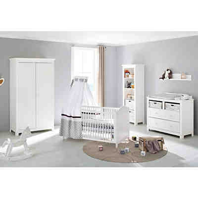 komplett kinderzimmer nina 3 tlg kinderbett breite wickelkommode und 2 t riger. Black Bedroom Furniture Sets. Home Design Ideas