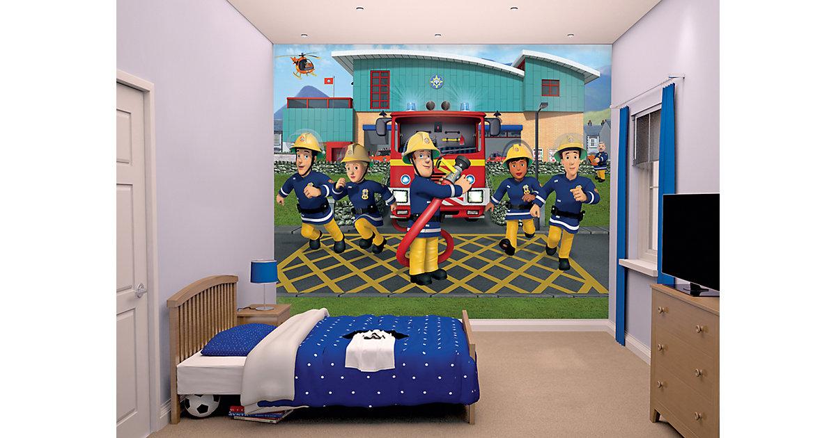 Tapete Feuerwehrmann Sam blau