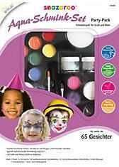 snazaroo Aqua-Schminkset Partypack 65 Gesichter, 21-tlg.