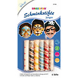 snazaroo Schminkstifte Jungen, 6 Farben