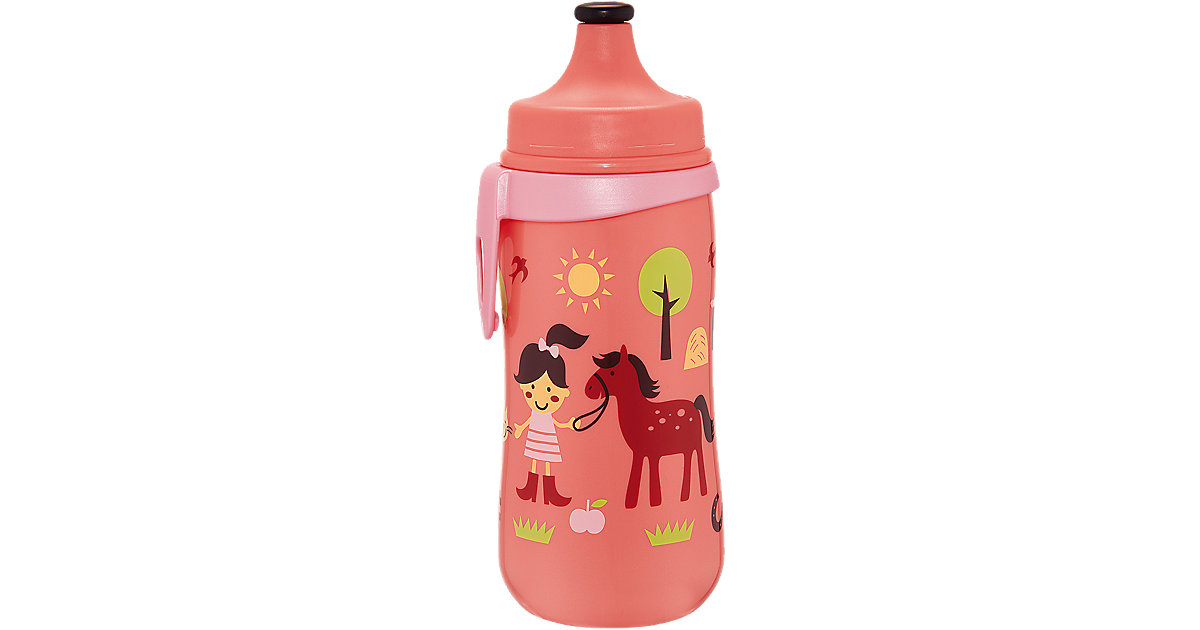 Trinkflasche Kids Cup mit Push Pull, PP, 330 ml, rosa
