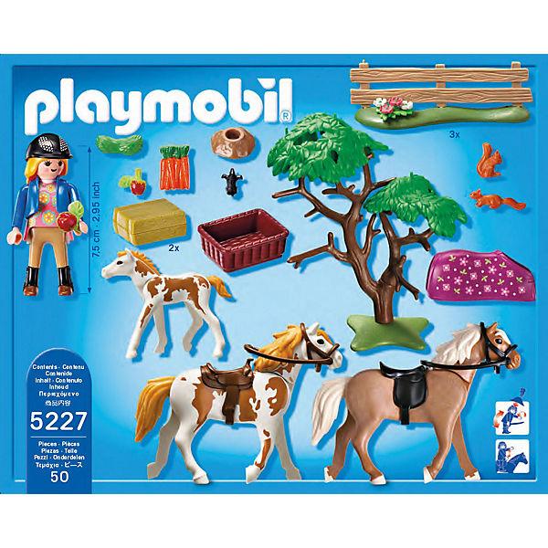 Playmobil 5227 pferdekoppel playmobil mytoys for Playmobil pferde set