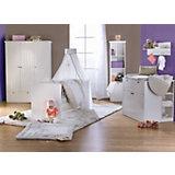 Komplett Kinderzimmer DREAMWORLD 2 groß, 3-tlg. (Kinderbett, Wickelkommode und 3-türiger Kleiderschrank), Weiß
