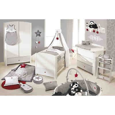 komplett kinderzimmer rock star baby 3 tlg kinderbett wickelkommode und 2 t riger. Black Bedroom Furniture Sets. Home Design Ideas