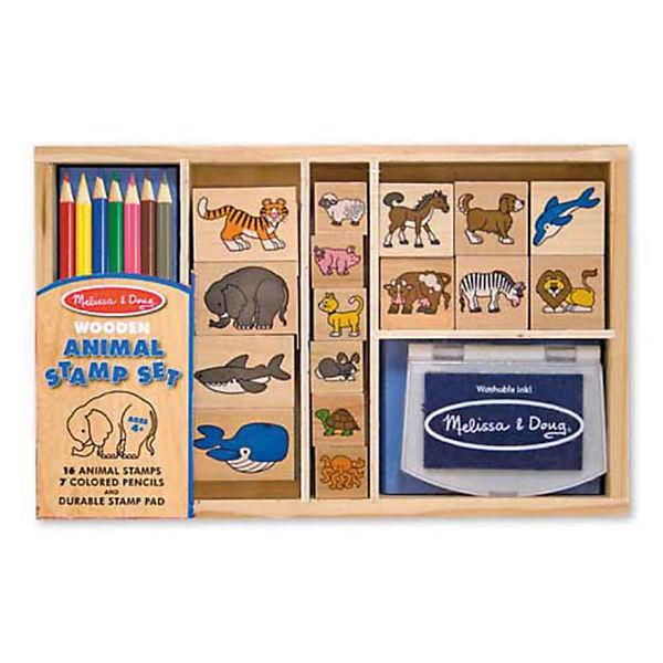 """Большой набор печатей """"Животные"""", Melissa & Doug"""