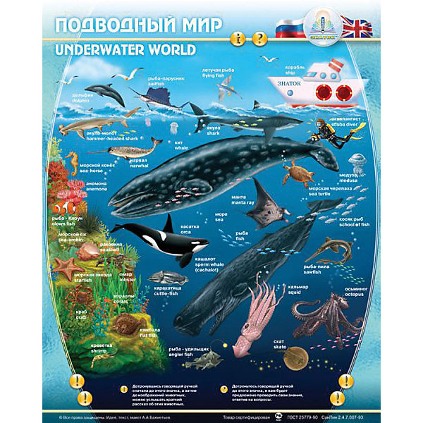 """Электронный звуковой плакат """"Подводный Мир"""""""