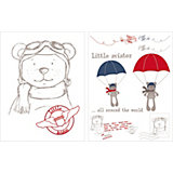 Wandsticker Little Aviator, 8-tlg