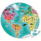 Puzzle Köfferchen 208 Teile - Rundpuzzle Unser blauer Planet