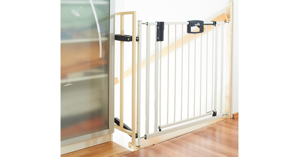 Treppenschutzgitter Easy Lock, Metal, 84,5 - 92,5 cm, weiß