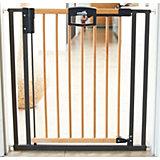 Türschutzgitter Easy Lock Wood, Holz / Metall, 80,5 - 88,5 cm
