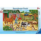 """Пазл """"Жизнь на ферме"""", 15 деталей, Ravensburger"""