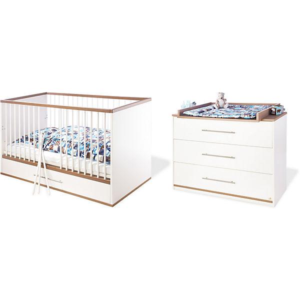 sparset tuula 2 tlg kinderbett wickelkommode. Black Bedroom Furniture Sets. Home Design Ideas