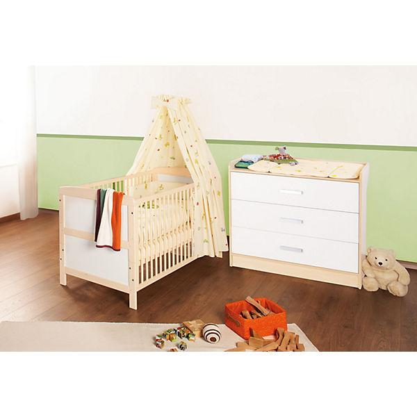 kinderbett wickelkommode sparset florian gro 2 tlg. Black Bedroom Furniture Sets. Home Design Ideas