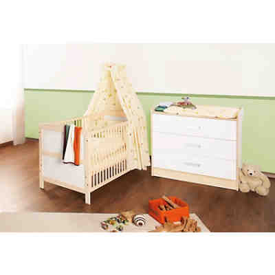 kinderbett wickelkommode sparset florian gro 2 tlg. Black Bedroom Furniture Sets. Home Design Ideas