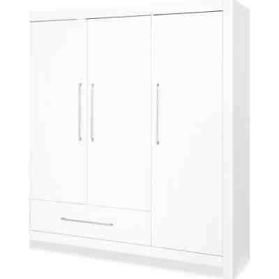 kleiderschrank puro gro 3 t rig fichte massiv wei lasiert pinolino mytoys. Black Bedroom Furniture Sets. Home Design Ideas