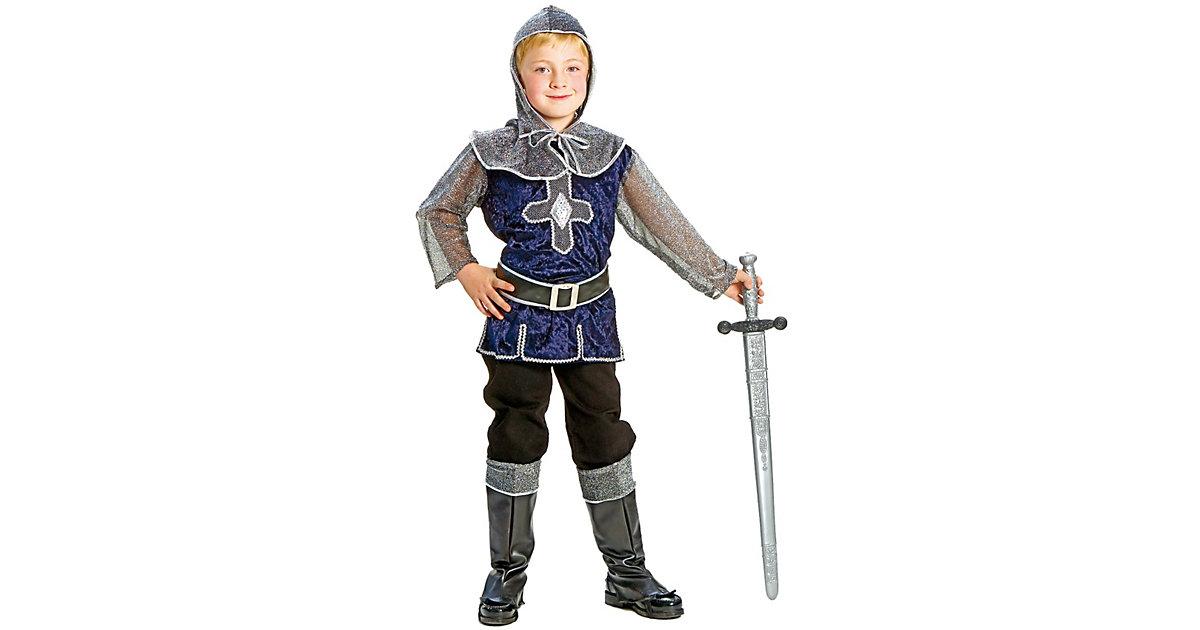 Kostüm blausilberner Ritter Gr. 164 Jungen Kinder