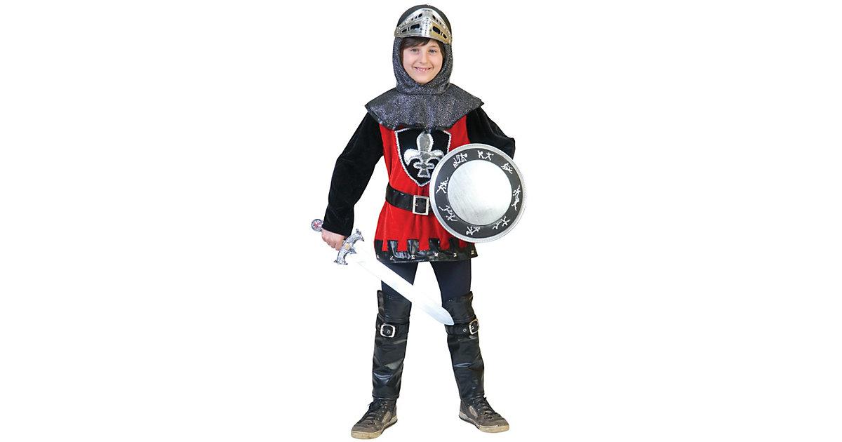 Kostüm schwarzroter Ritter Gr. 116 Jungen Kleinkinder
