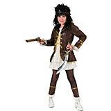 Kostüm Piratin, braun