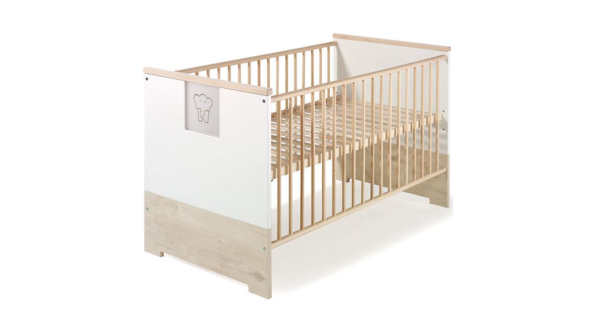 Kinderbett ECO SLIDE, lancelot oak/weiß, 70 x 140 cm