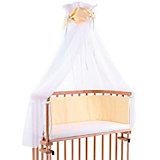Betthimmel für babybay, gelb/weiß