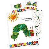 Wende- Kinderbettwäsche Kleine Raupe Nimmersatt, Linon, 135 x 200 cm