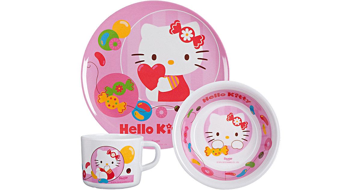 Kindergeschirr Hello Kitty Jelly Beans Melamin