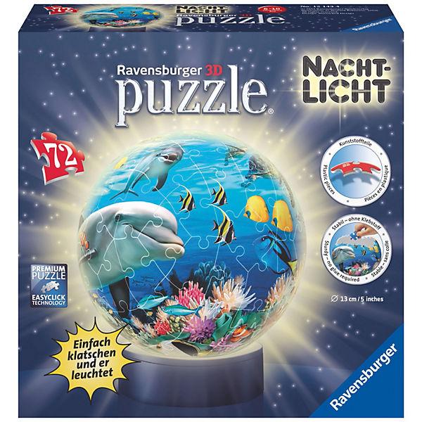 puzzleball nachtlicht unterwasser 72 teile puzzleball. Black Bedroom Furniture Sets. Home Design Ideas