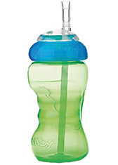 Trinkhalmflasche Super Straw, PP, 295 ml, grün