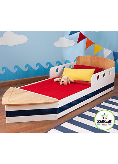 kinderbett boot 70 x 140 cm kidkraft wei mytoys. Black Bedroom Furniture Sets. Home Design Ideas