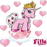 Wandsticker Filly, Romance Rose, 9-tlg.