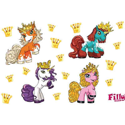 Wandsticker Filly, Party Set, 17-tlg.