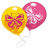 "10 шариков с рисунком ""Бабочка"""