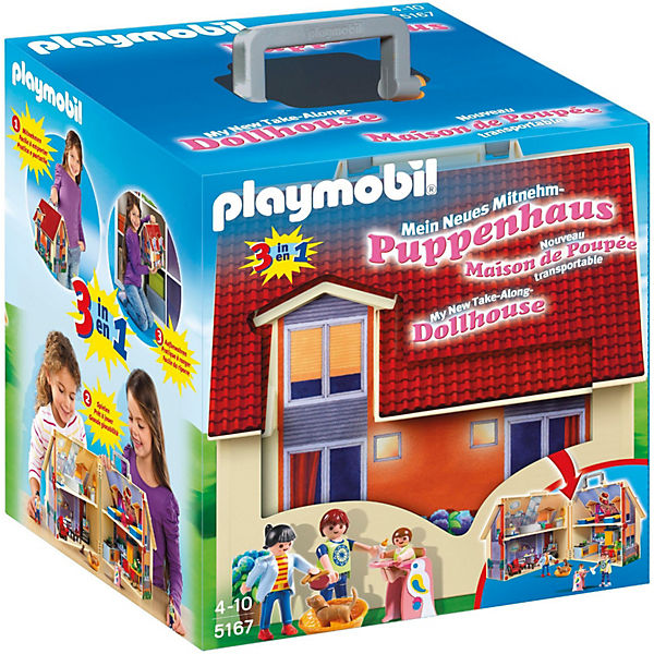 playmobil 5167 neues mitnehm puppenhaus aktionsartikel playmobil dollhouse mytoys. Black Bedroom Furniture Sets. Home Design Ideas
