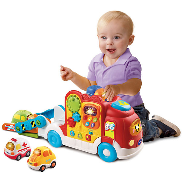 tut tut baby flitzer spielset autotransporter vtech. Black Bedroom Furniture Sets. Home Design Ideas