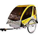 Fahrradanhänger Kid's Tourer L2, gelb/silber