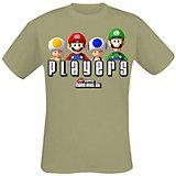Nintendo T-Shirt Super Mario Bros Players -L- khaki