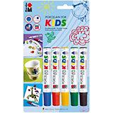 Porcelainpainter for kids, 5 Farben