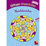 Glitzer-Mandalas. Mandalazauber