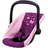 Puppenautositz Schmetterling, lila-pink